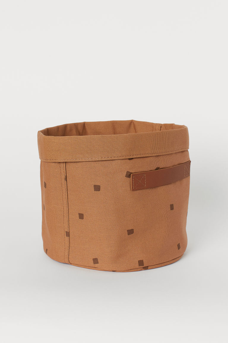 Canvas storage basket - Brown/Patterned - Home All | H&M CN