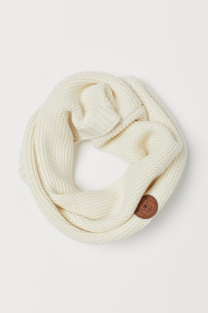 Snood au point mousse