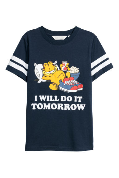 T-shirt con stampa - Blu scuro/Garfield -  | H&M IT