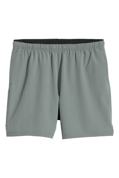 Running shorts - Khaki green - Men | H&M