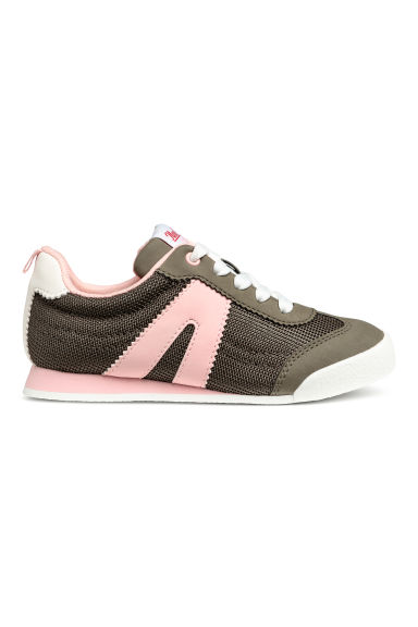 Mesh trainers - Dark khaki green/Light pink - Kids | H&M CN