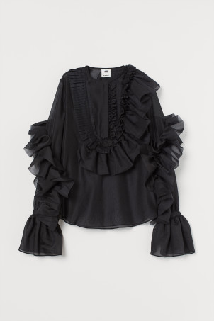 Voluminous Ruffled Blouse