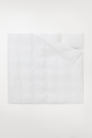 Cotton satin duvet cover set