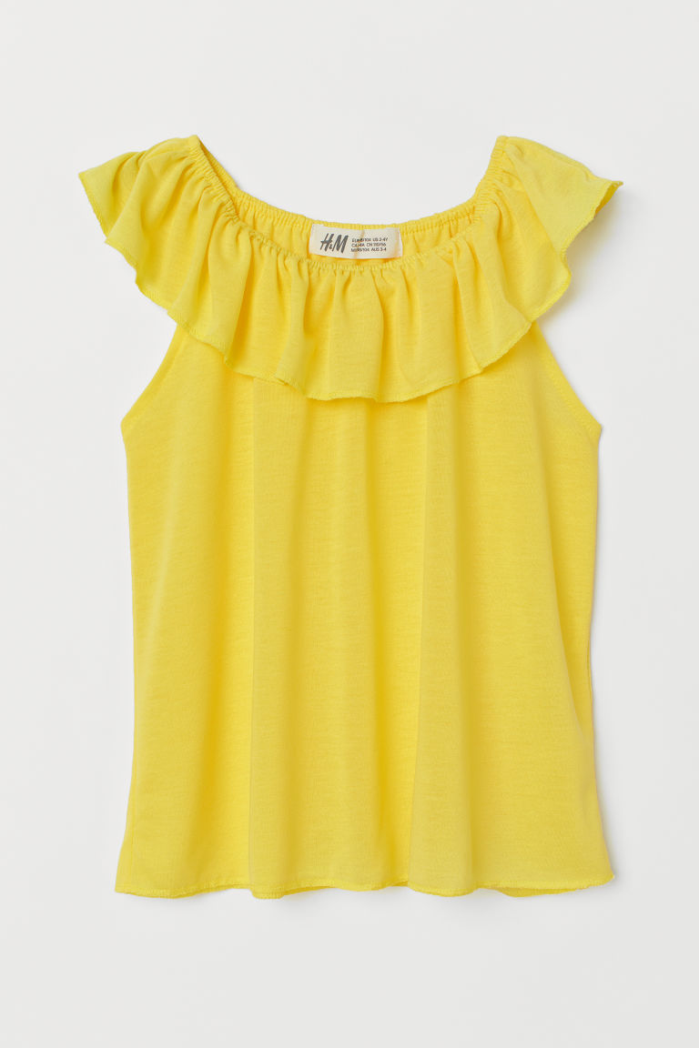 Ruffled Top - Yellow - Kids | H&M CA