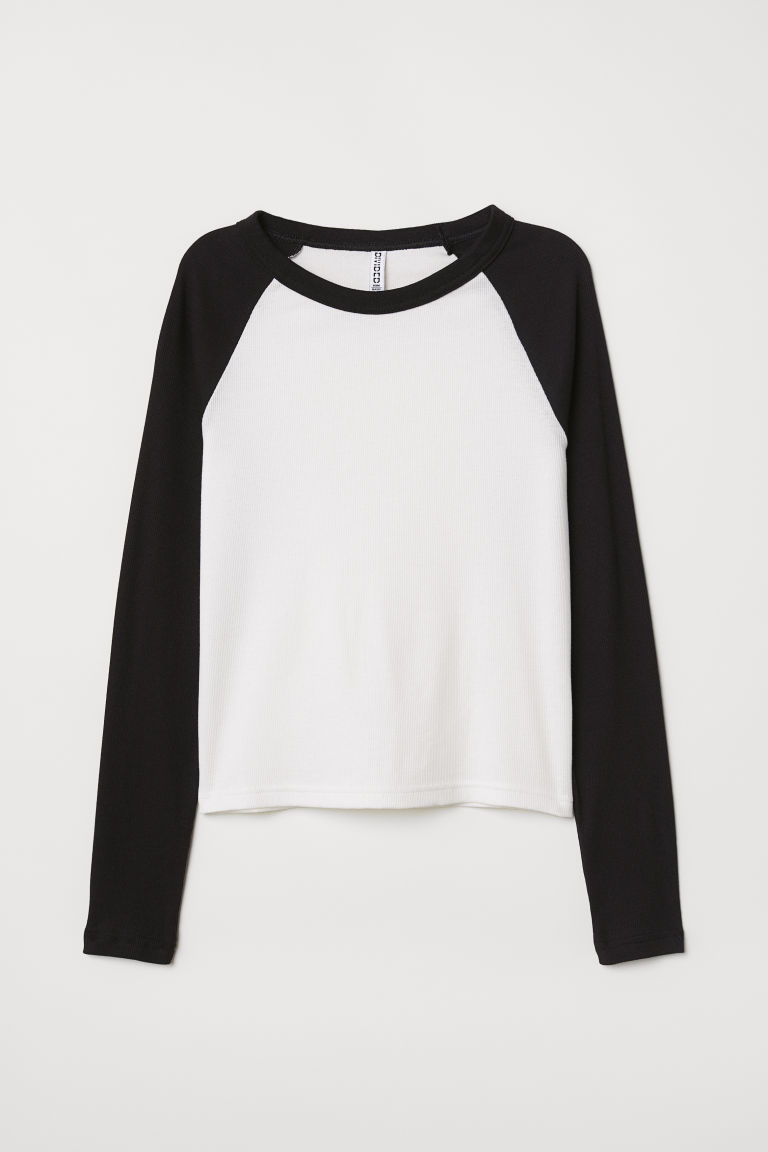 Fitted Baseball Shirt - Black - Ladies | H&M CA