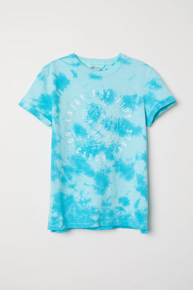 T-shirt con stampa - Turchese/batik - BAMBINO | H&M IT