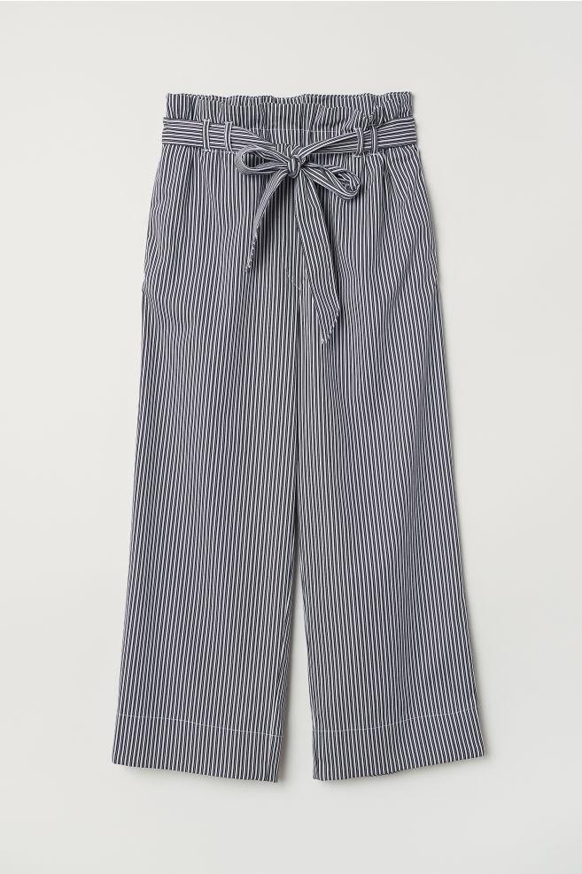 df1760dbb Ankle-length Pants - White/striped - Ladies   H&M ...