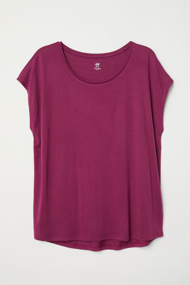 H&M+ Sports top - Dark pink - Ladies | H&M