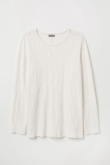 Fine-knit jumper - Natural white - Men | H&M