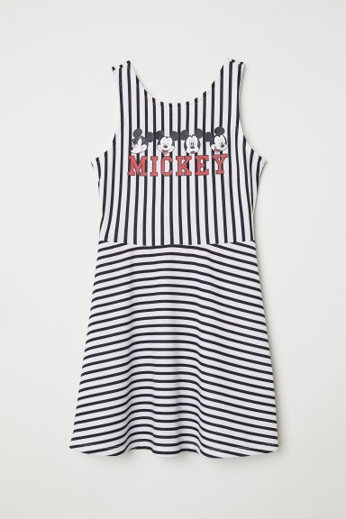 Printed jersey dress - White/Mickey Mouse - Kids | H&M