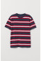 Dark blue marl/Red striped