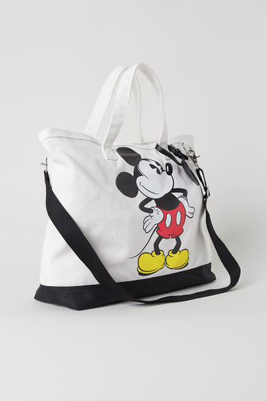 Bag with a motif - White/Mickey Mouse - Men | H&M