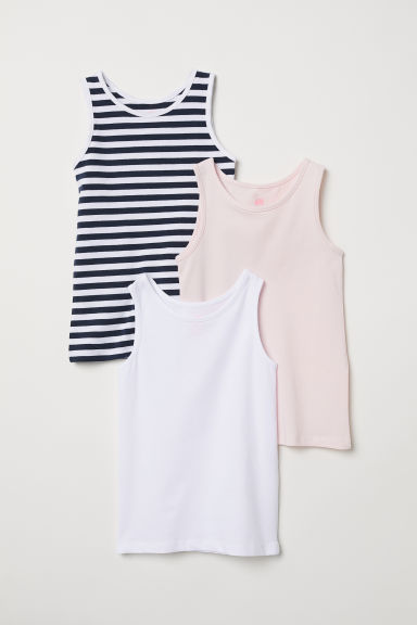 3-pack vest tops - White/Striped - Kids | H&M GB