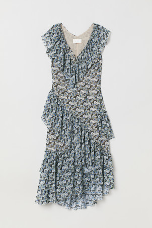 Flounced dress