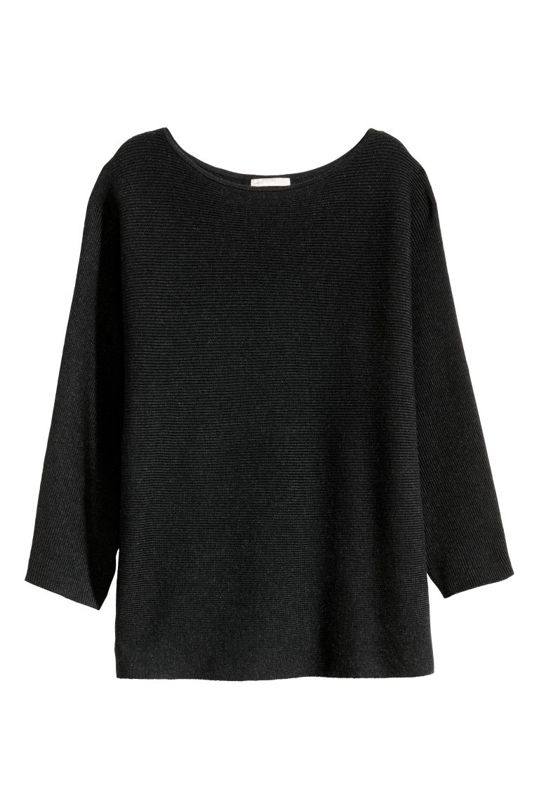 Rib-knit Sweater - Dark gray melange - Ladies | H&M US