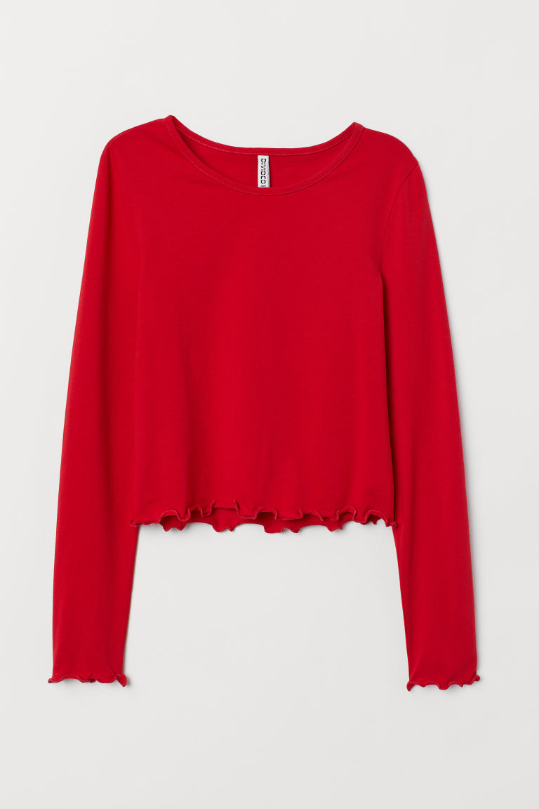 Jersey Top - Red -  | H&M US