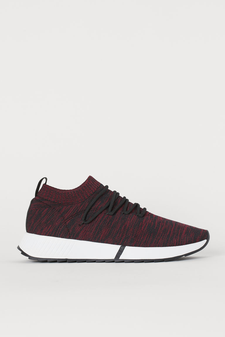 Fully-fashioned trainers - Dark red marl - Men | H&M