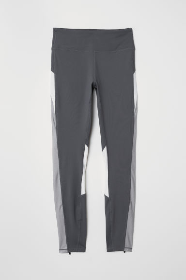 Running tights - Dark grey -  | H&M