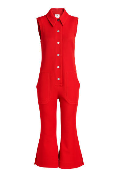 Cropped jumpsuit - Red - Ladies | H&M