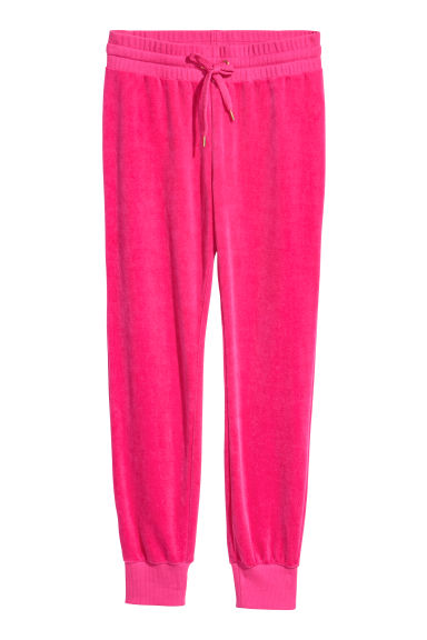 Velour joggers - Cerise - Ladies | H&M CN