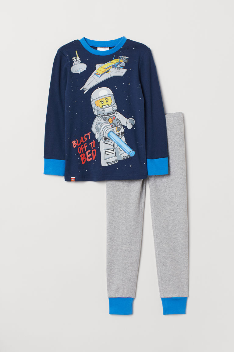 Jersey pyjamas - Dark blue/LEGO - Kids | H&M GB