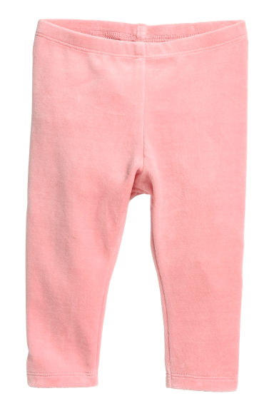 Velour leggings - Powder pink - Kids | H&M CN