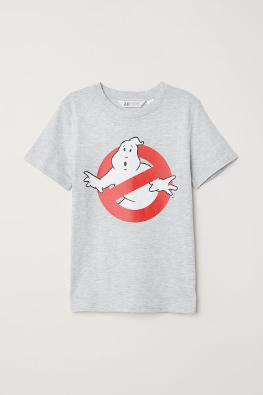 Printed T-shirt - Grey marl/Ghostbusters -  | H&M
