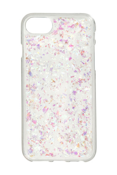 Hülle für iPhone 6/7 - Transparent/Glitzer - DAMEN | H&M CH