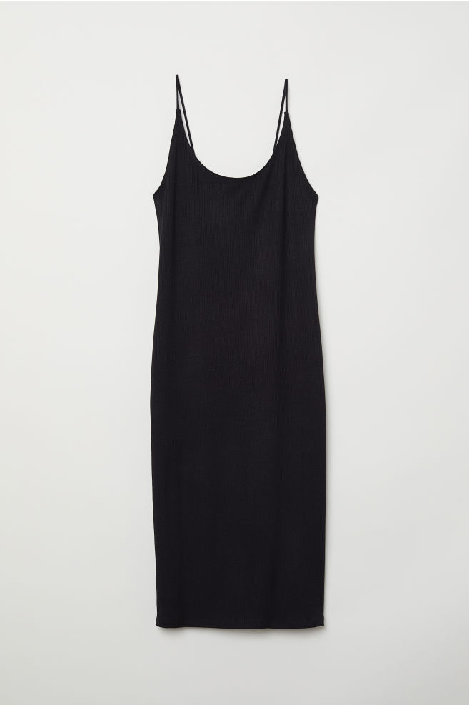 09f26ef3e8 Ribbed Jersey Dress - Black - Ladies