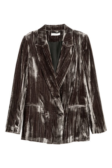 Crushed velvet jacket - Dark mole - Ladies | H&M IE