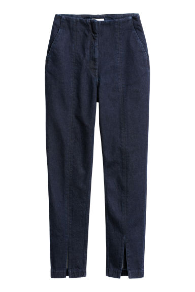 Denim trousers - Dark denim blue - Ladies | H&M