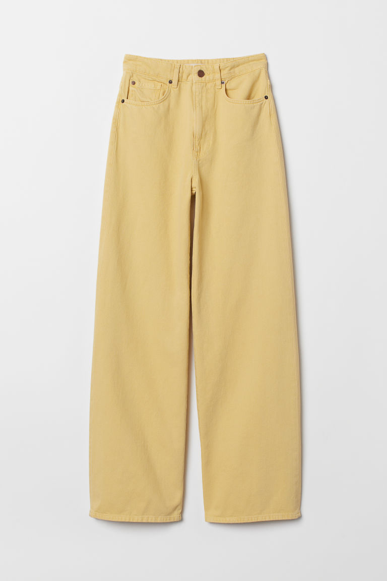 Wide High Jeans - Light yellow - Ladies | H&M