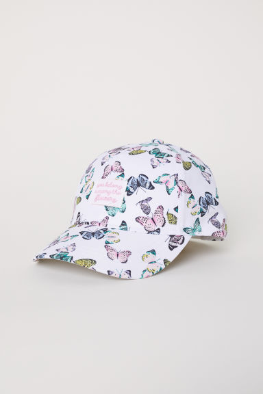 Cap - White/Butterflies - Kids | H&M