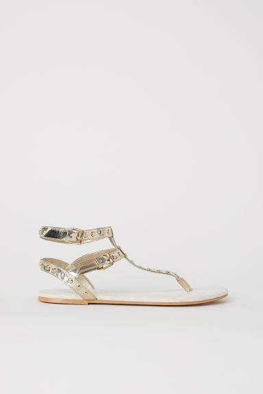 Studded sandals - Gold-coloured -  | H&M CN