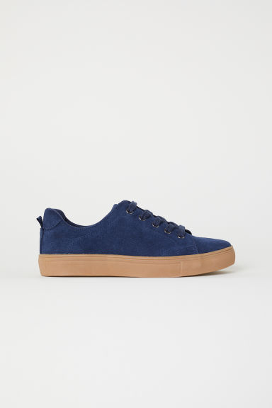 Suede trainers - Dark blue - Kids | H&M