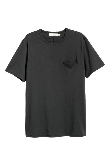 T-shirt - Dark grey - Men | H&M