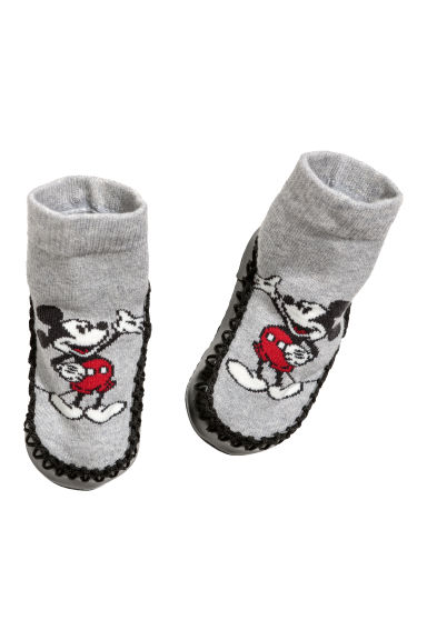 Chaussons - Gris/Mickey - ENFANT | H&M FR
