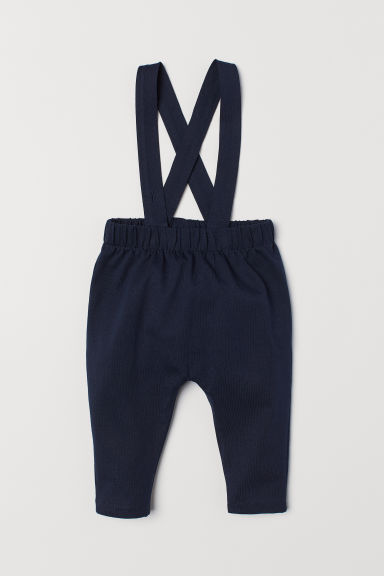 Trousers with braces - Dark blue - Kids | H&M CN