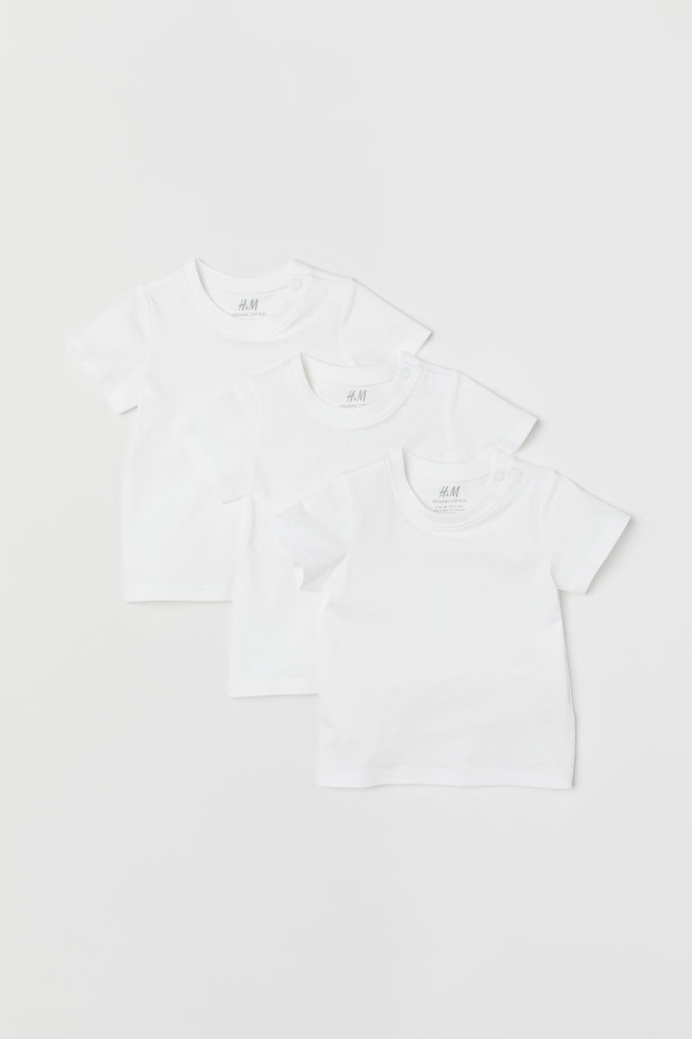 3-pack T-shirts - White - Kids | H&M