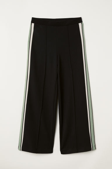 Pull-on trousers - Black/Green - Ladies | H&M
