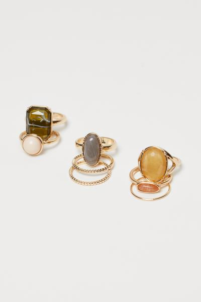 H&M - 8-pack rings - 1