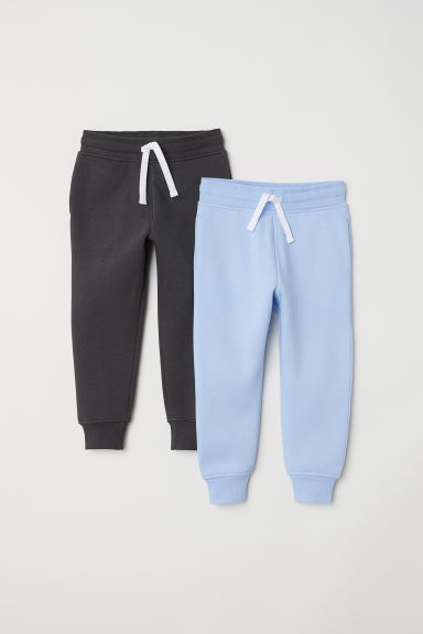2-pack joggers - Light blue/Dark grey - Kids | H&M CN