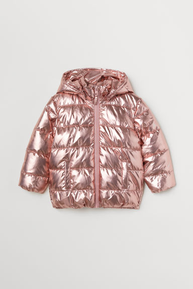 Padded jacket - Pink metallic - Kids | H&M