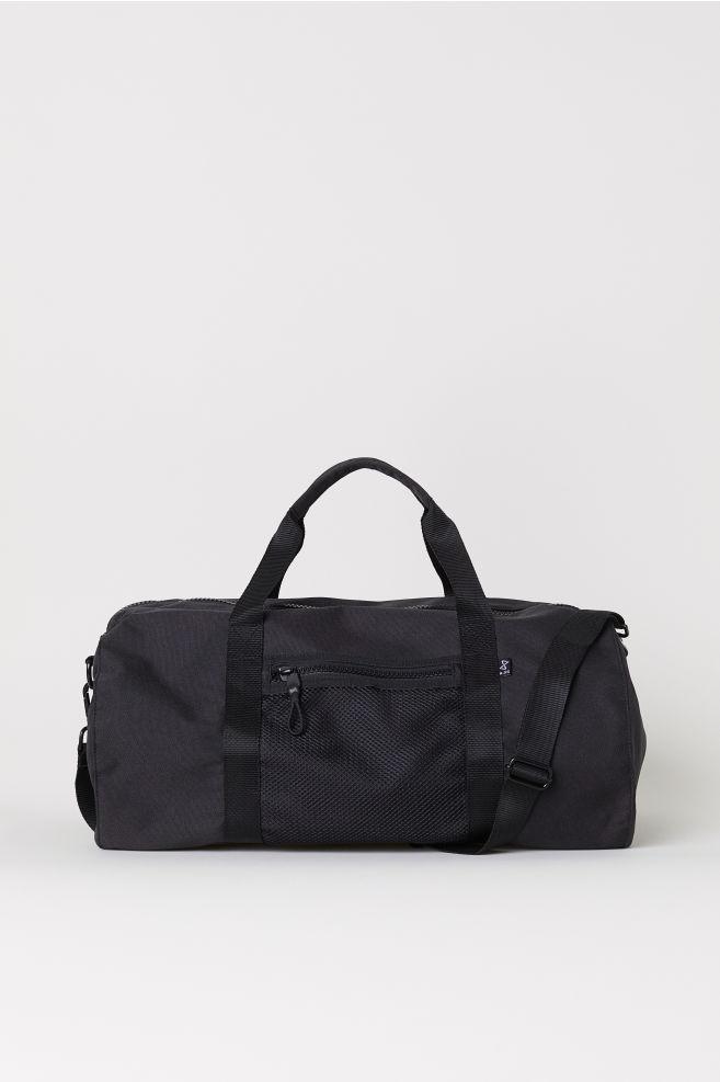 1028b42d362 Nylon sports bag - Black - Men