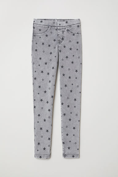 Treggings - Grey/Stars - Kids | H&M CN