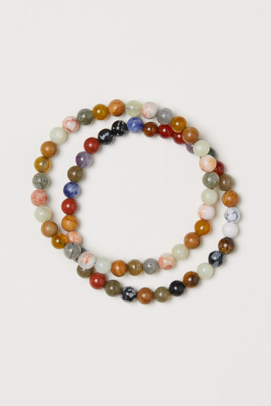2-pack elastic bracelets - Multicoloured - Men | H&M
