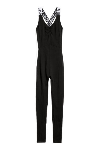 Jersey jumpsuit - Black -  | H&M