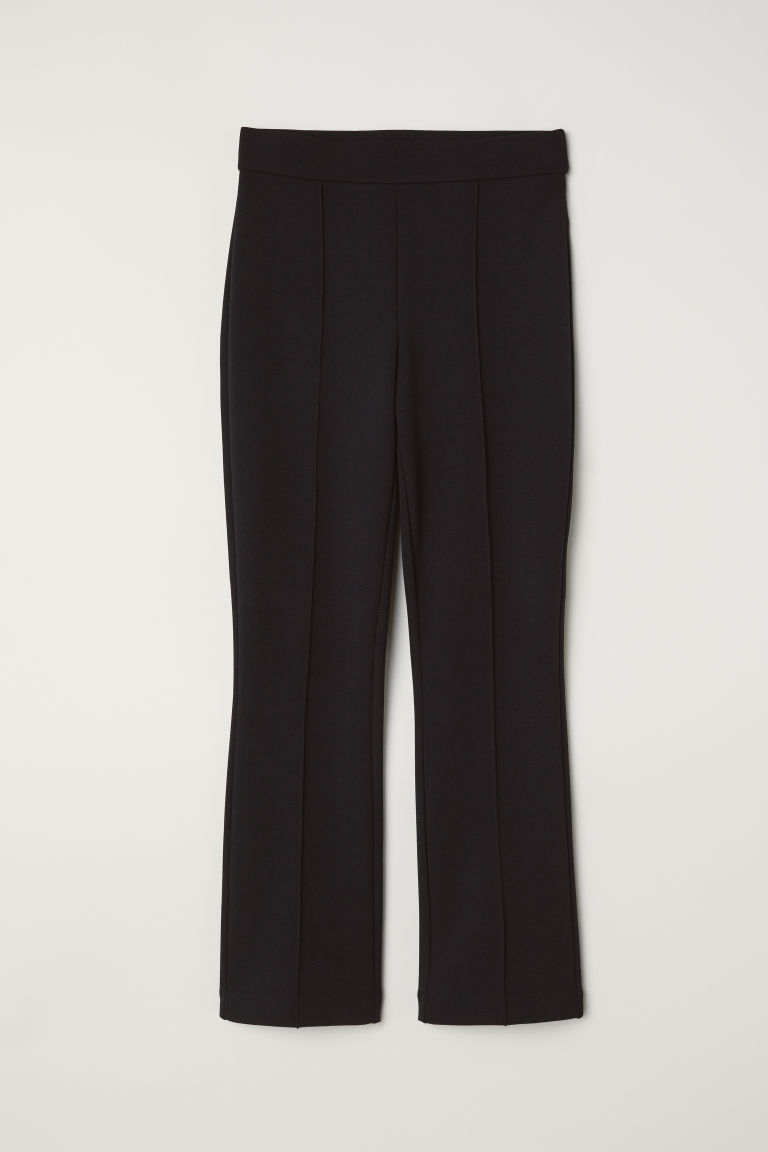Flared trousers - Black - Ladies | H&M CN