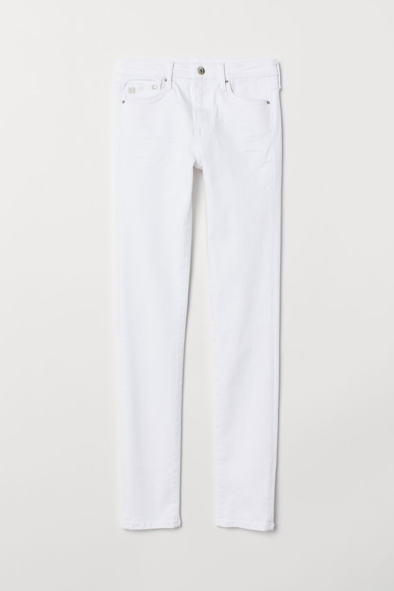 Shaping Skinny Regular Jeans - White -  | H&M US