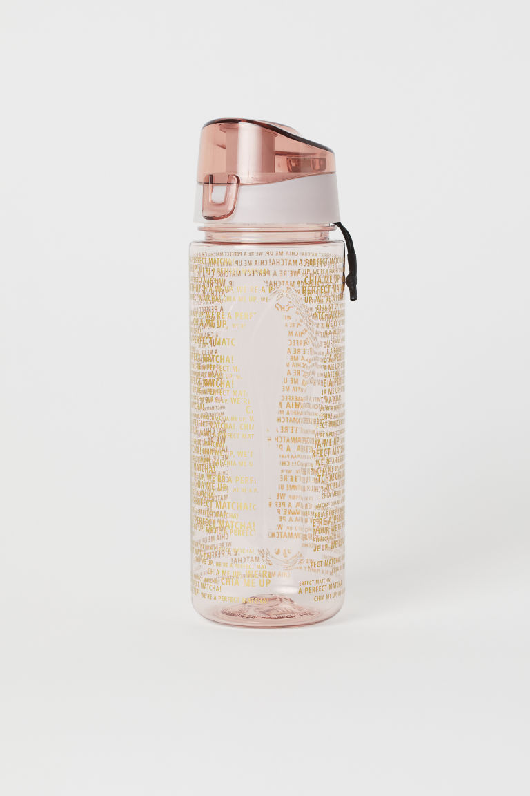 Water bottle with a lid - Dusky pink - Ladies | H&M